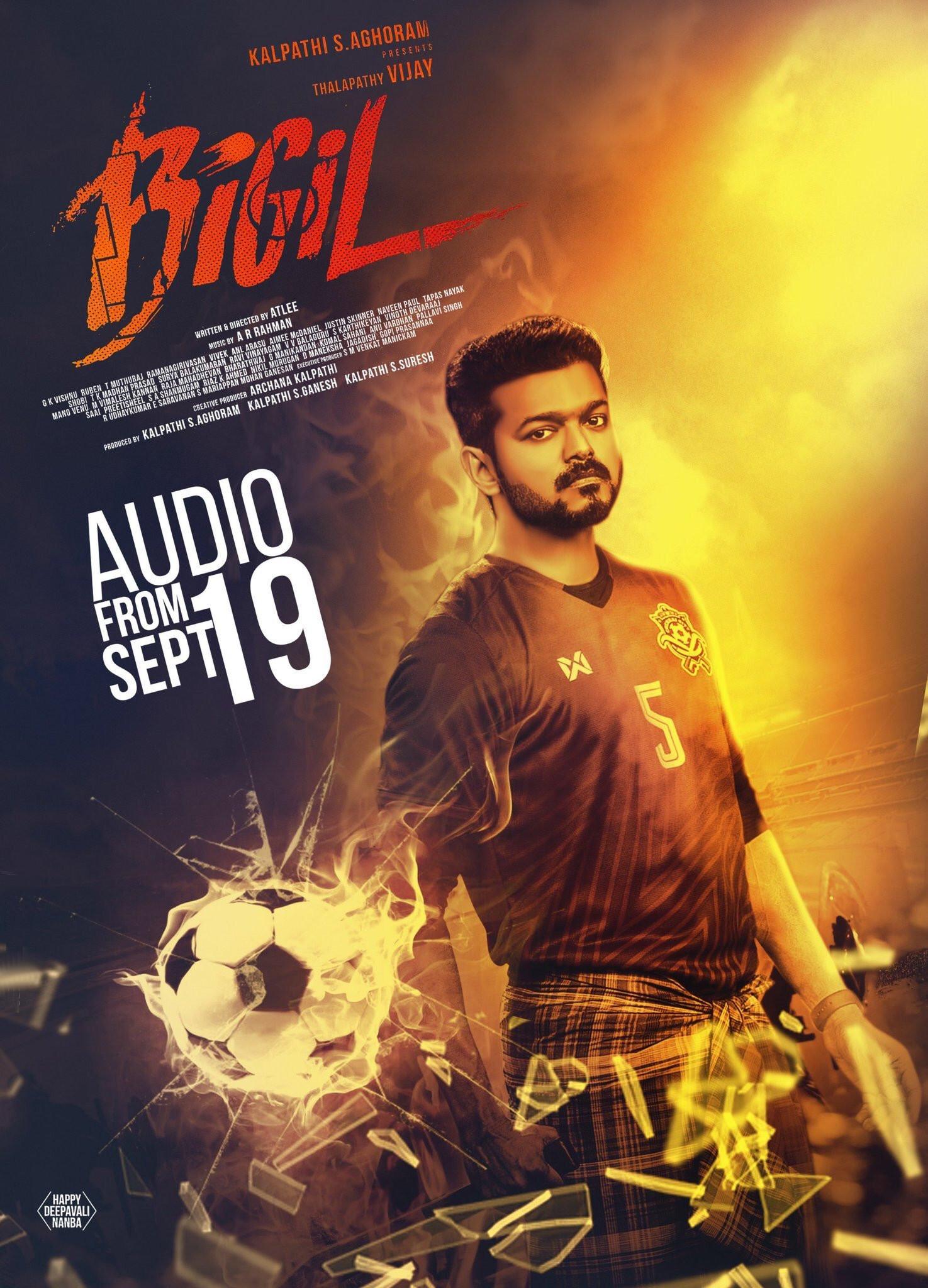 Vijay Bigil Audio Launch Poster HD