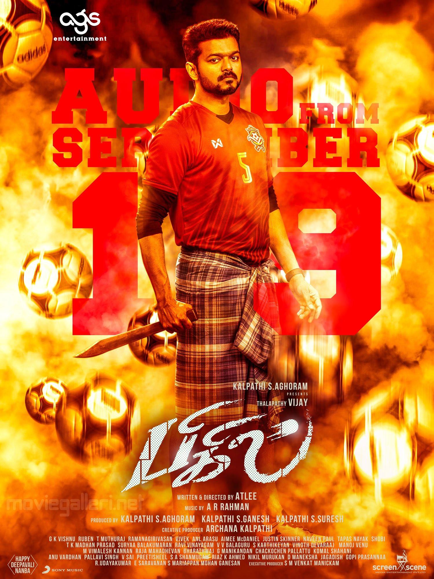 Vijay Bigil Audio Release from Sept 19th Poster HD
