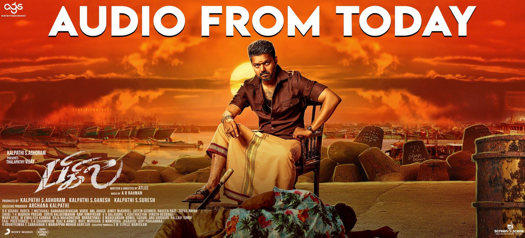 Vijay Bigil Audio from Today Poster HD