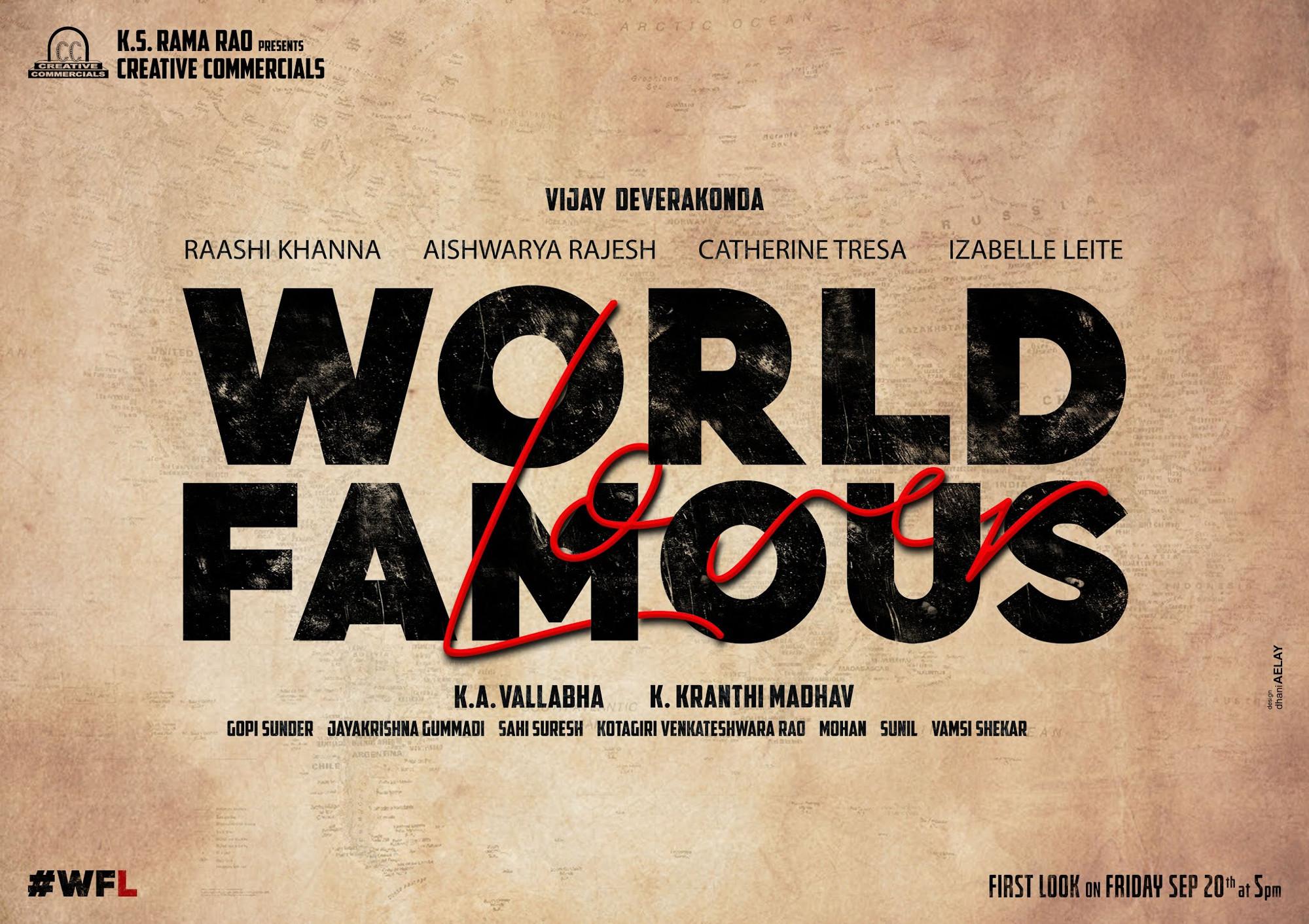 Vijay Deverakonda, Kranthi Madhav, Creative Commercial banner Film Titled World Famous Lover