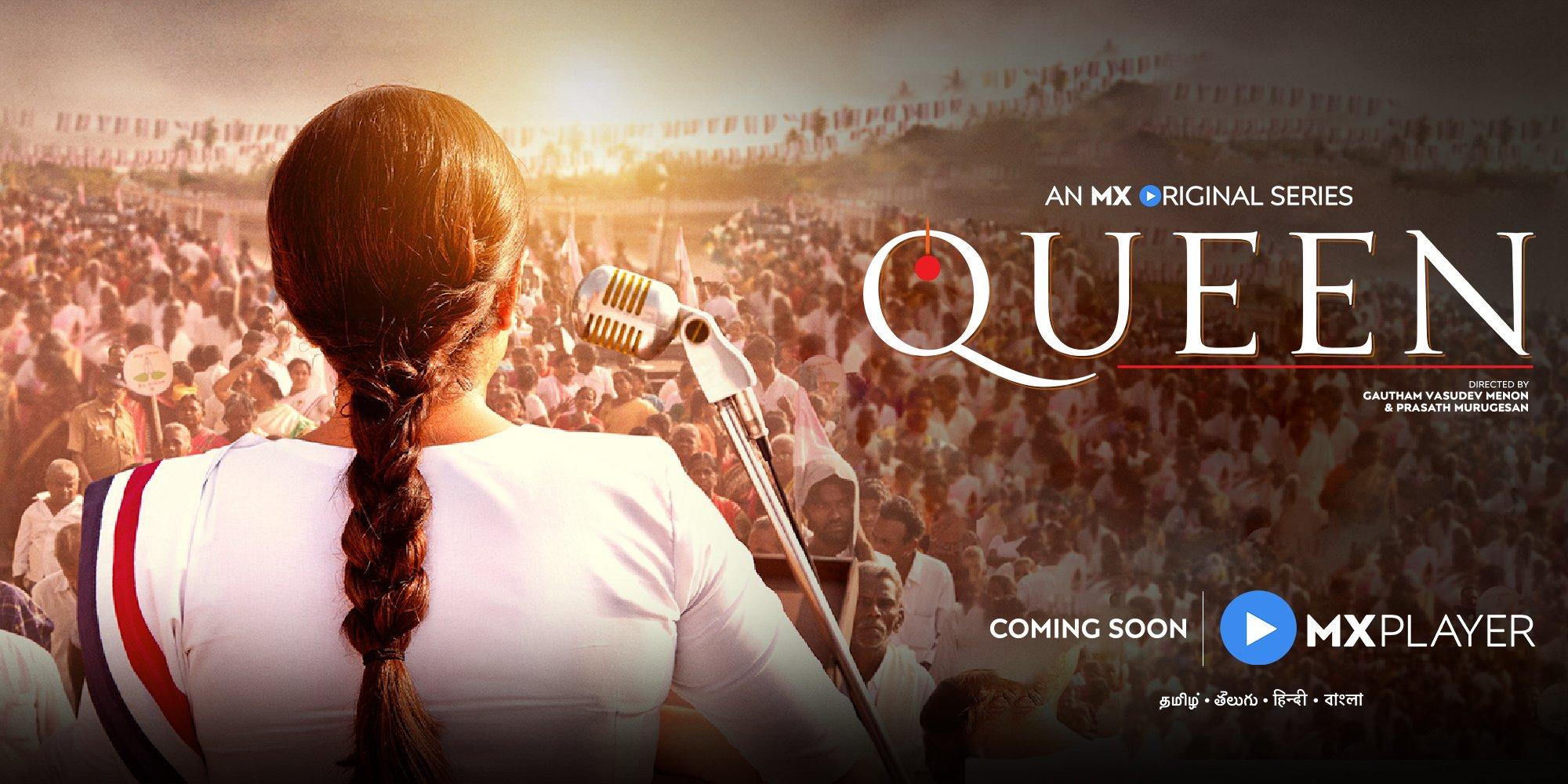 Actress Ramya Krishnan plays Jayalalithaa Biopic Queen Web Series by MX Player