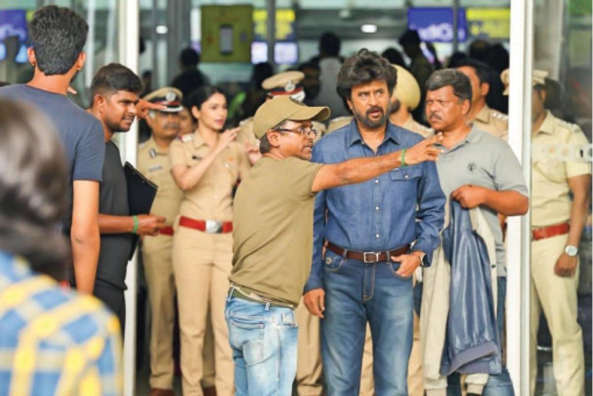 AR Murugadoss Rajini Darbar Movie Shooting Spot Stills