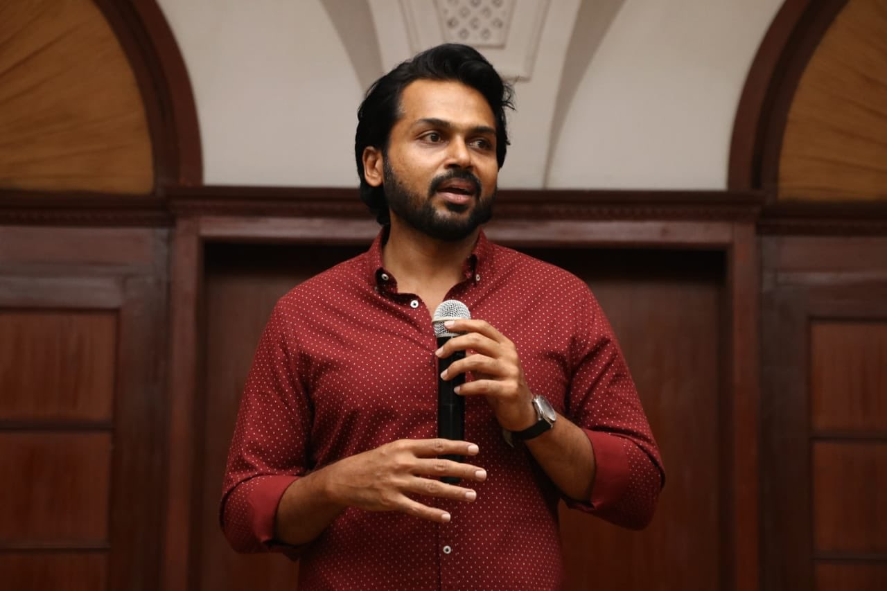 Actor Karthi Photos @ Kaithi Movie Thanks Meet