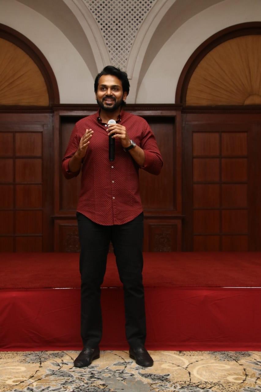 Actor Karthi Photos at Kaithi Movie Thanks Meet