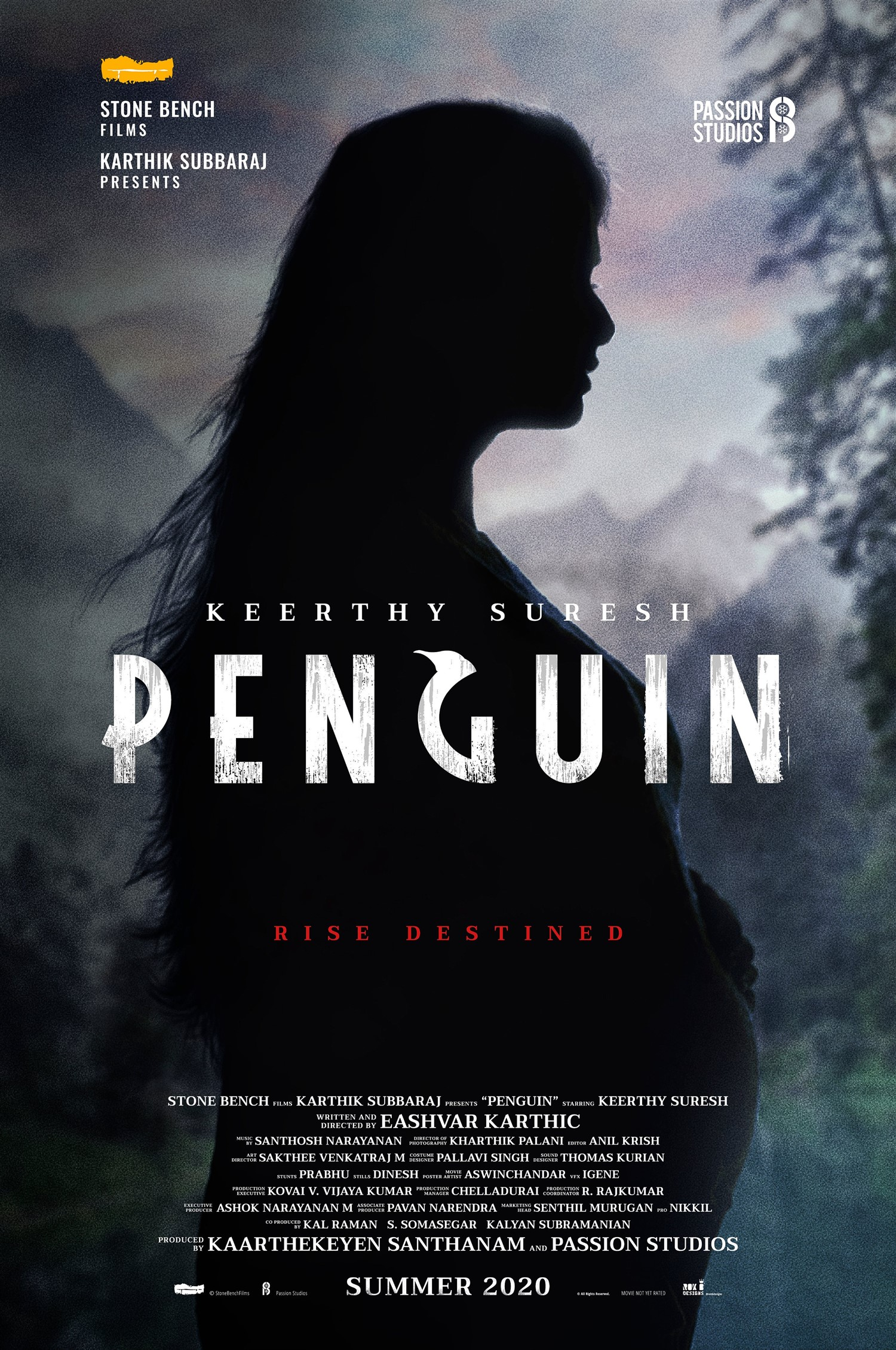 Actress Keerthi Suresh Penguin Movie Title Look Poster HD