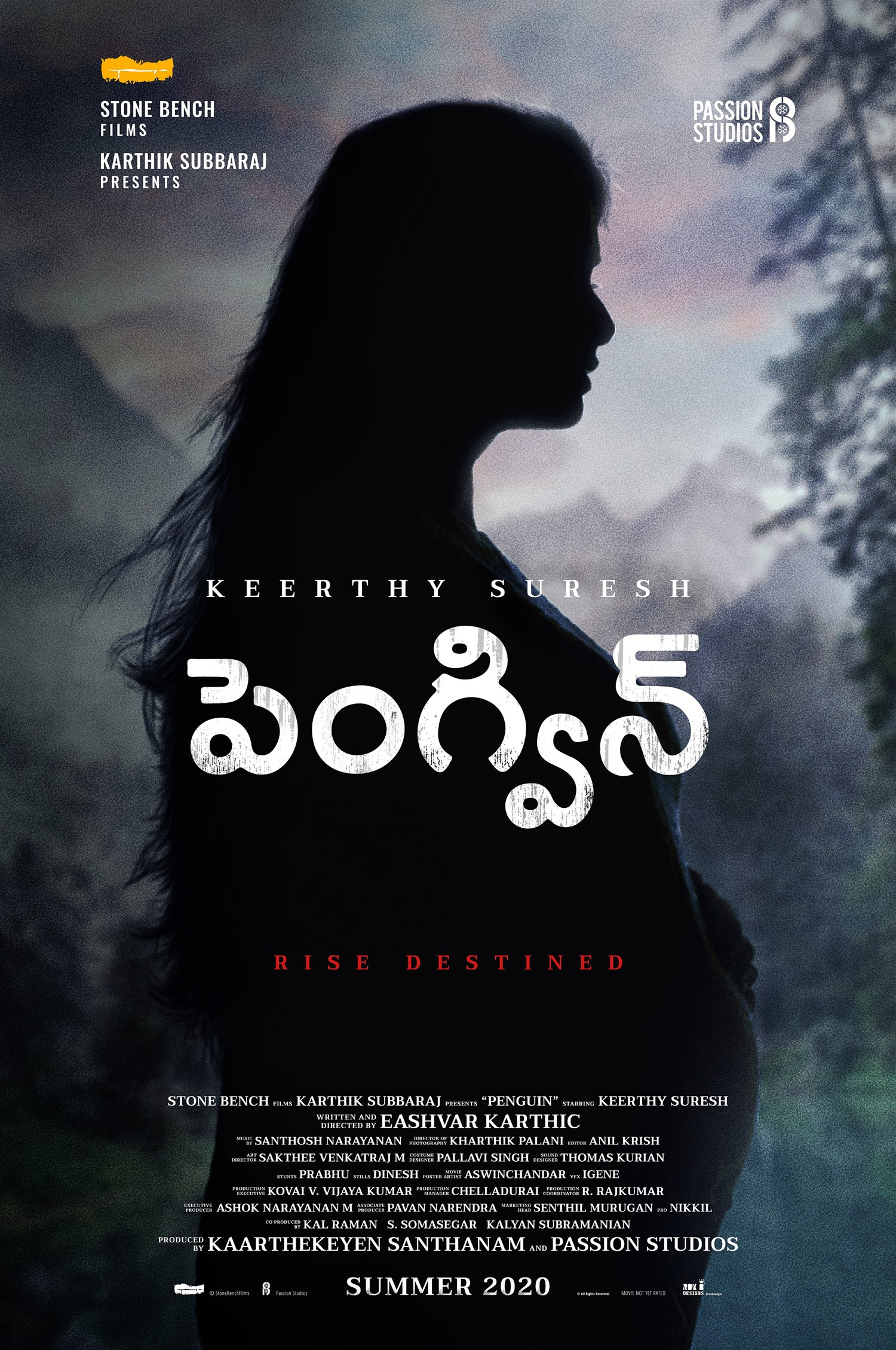 Actress Keerthy Suresh Penguin Telugu Movie Title Look Poster HD