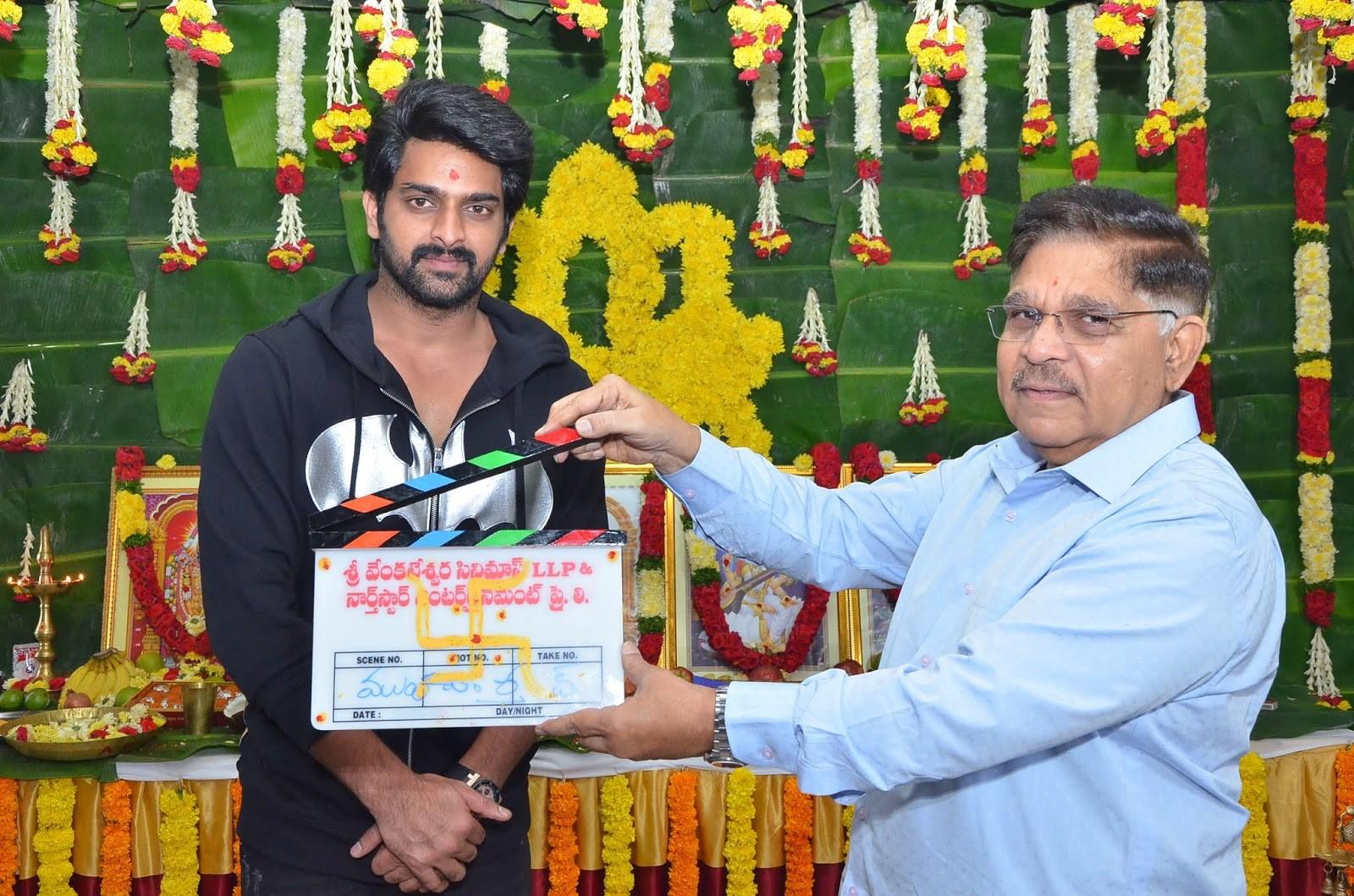 Allu Aravind @ Naga Shaurya Santhosh Jagarlapudi Movie Opening Stills