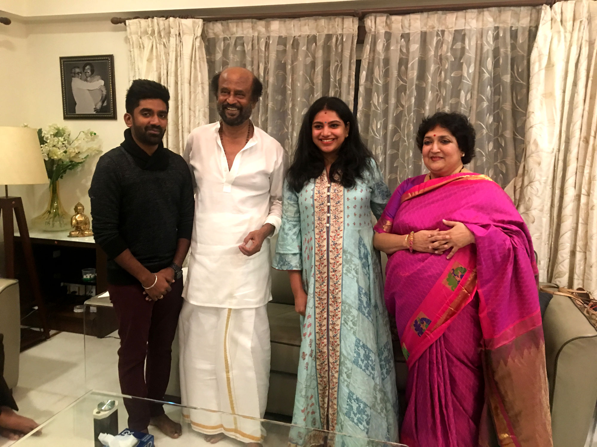 Music director Dharan's unforgettable birthday gift of meeting Superstar Rajinikanth