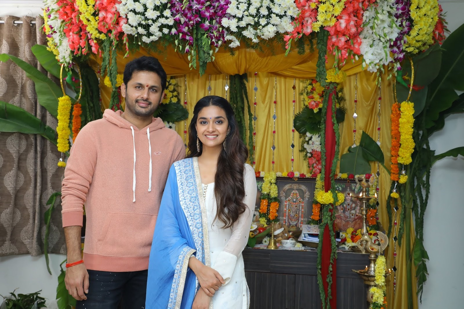 Nithin Keerthy Suresh Rang De Movie Launch Photos