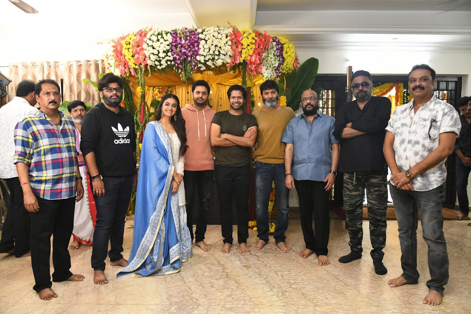 Nithin Keerthy Suresh Rang De Movie Launched
