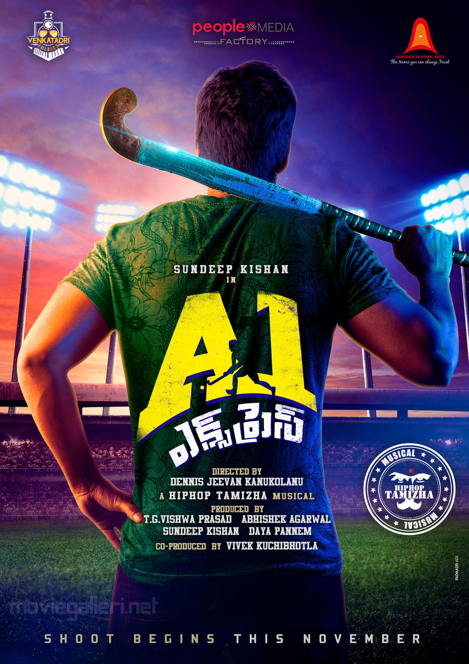 Sundeep Kishan A1 Express Movie Logo Poster HD