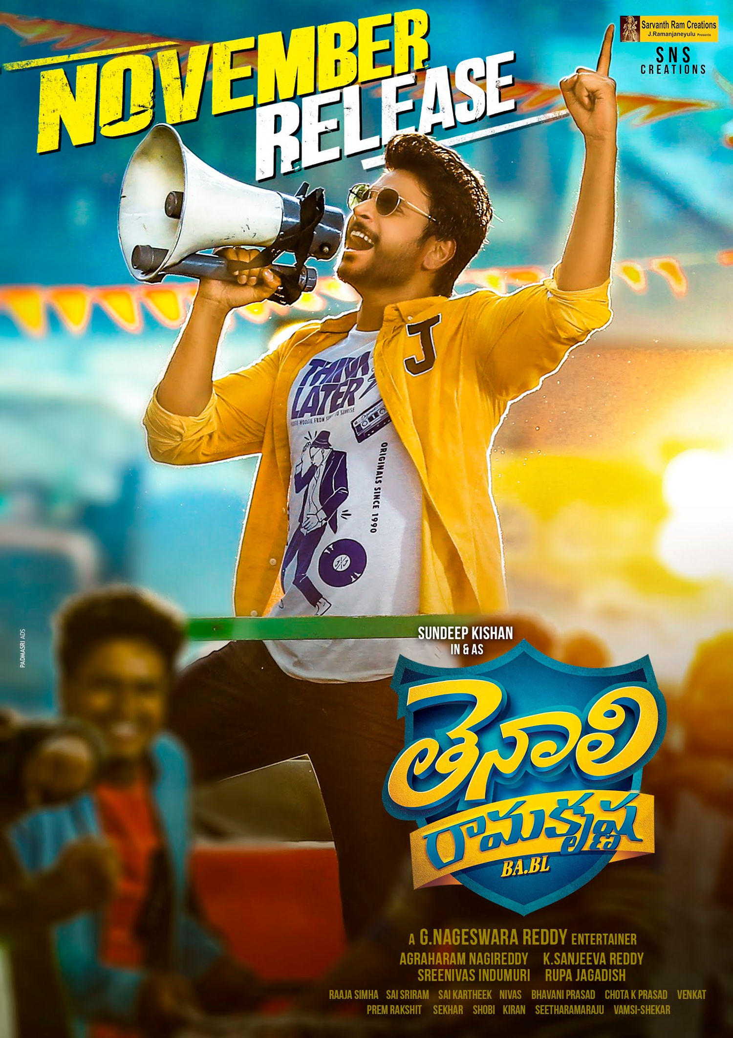 Sundeep Kishan Tenali Ramakrishna BA BL Movie Release in November