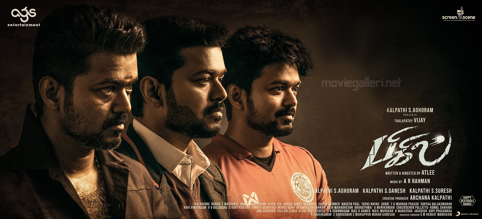 Vijay Bigil Movie Podra Vediya Oct 25 Poster HD