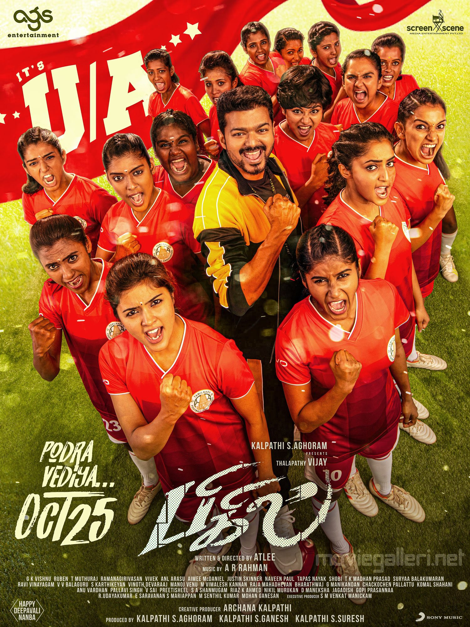 Vijay Bigil Movie Release Date on Oct 25 Poster HD