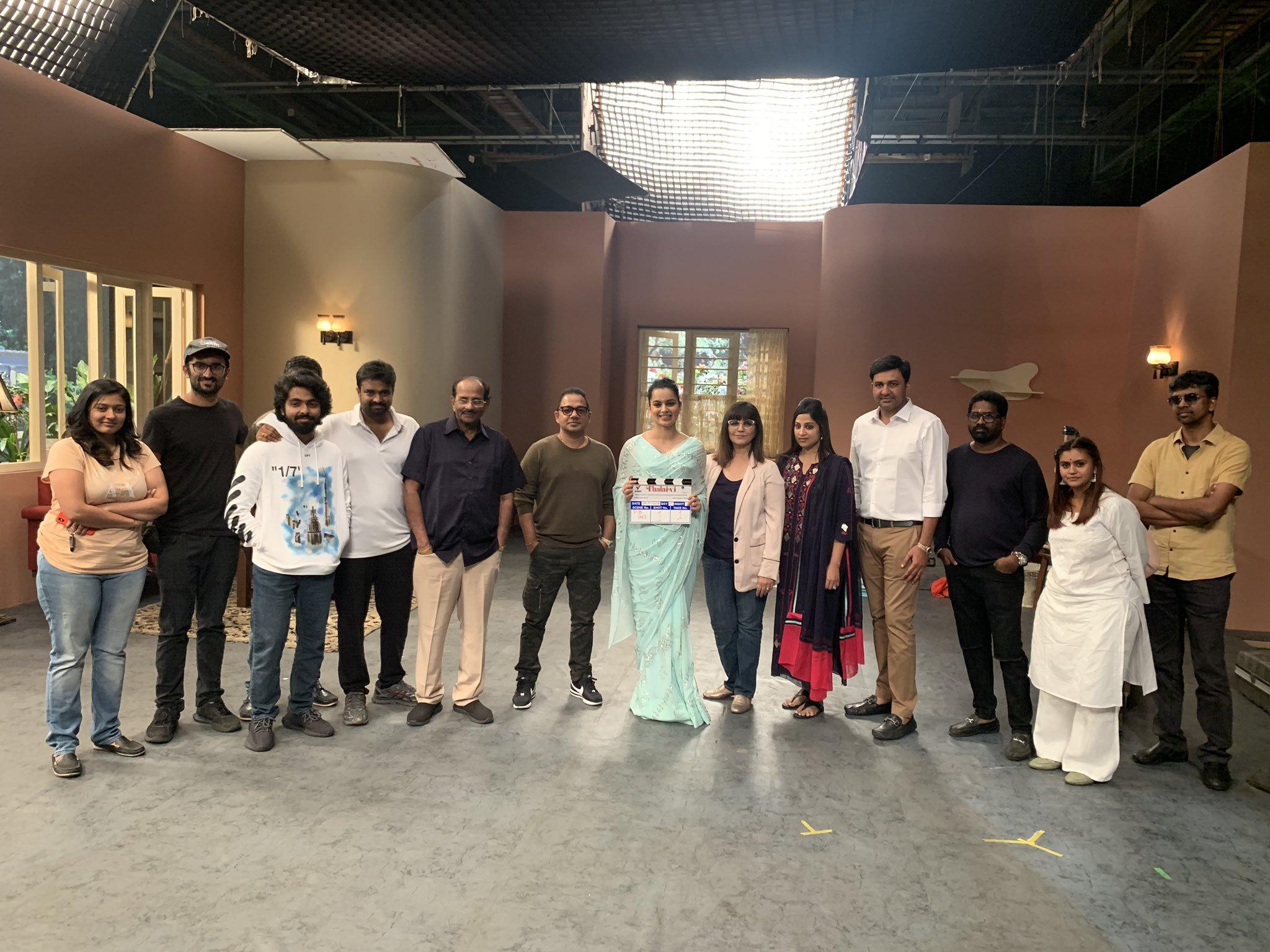 AL Vijay Kangana Ranaut Thalaivi Movie Shooting Started