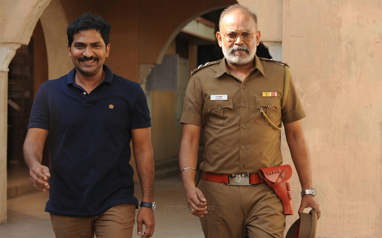 Actor Vaibhav, Venkat Prabhu in Lock Up Movie Stills HD