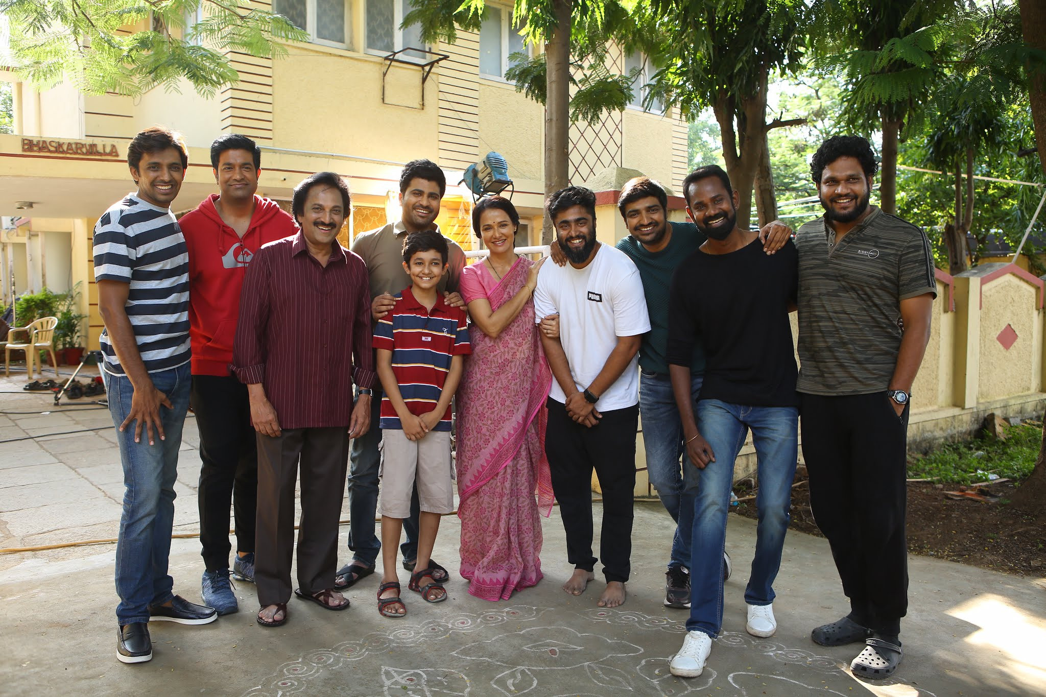 Actress Amala Akkineni @ Sharwanand Movie Sets