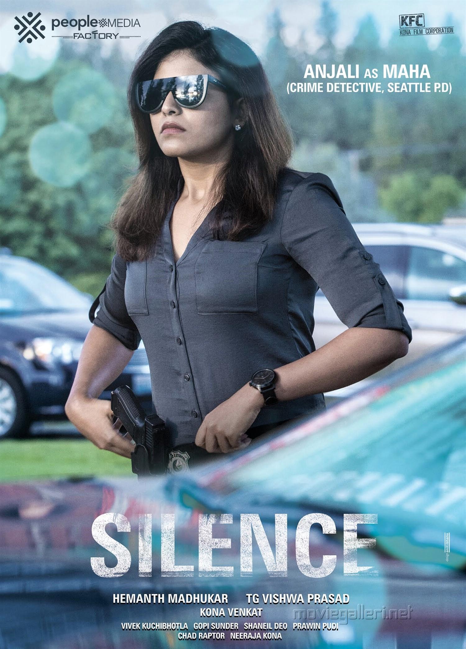 Actress Anjali as Maha in Silence Movie Poster HD