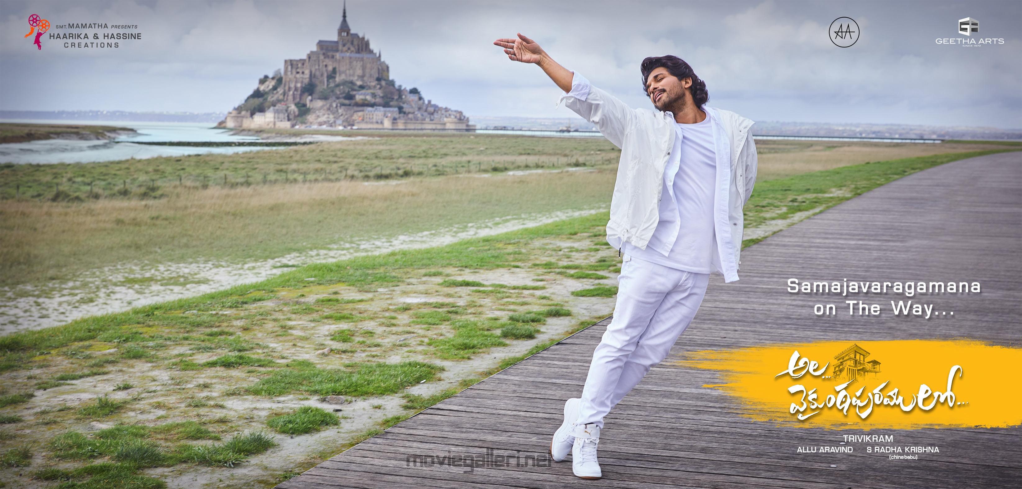 Allu Arjun Ala Vaikunthapurramlo Samajavaragamana song shot in Paris