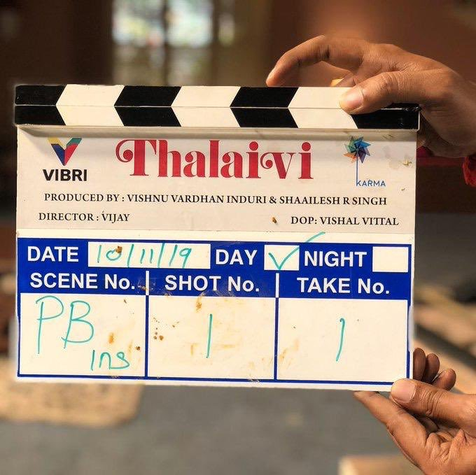 Director Vijay's Thalaivi Movie Shooting Started