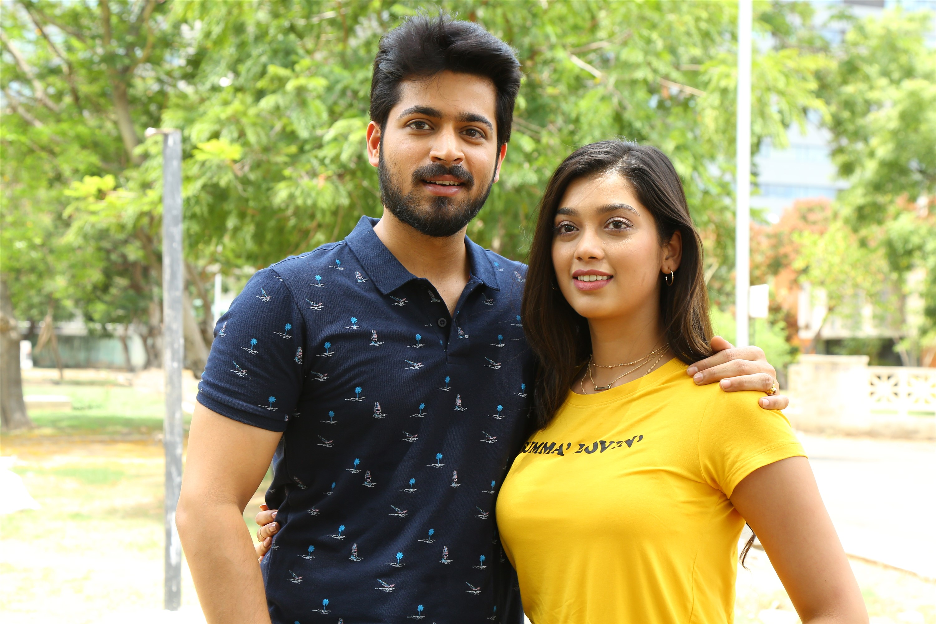 Harish Kalyan Digangana Suryavanshi in Dhanusu Raasi Neyargale Movie Images HD