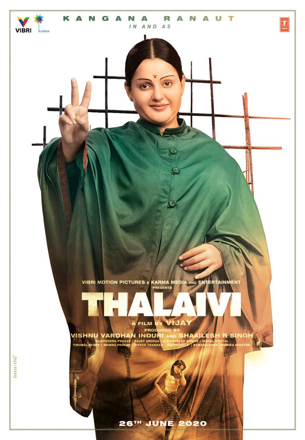 Kangana Ranaut Thalaivi Movie First Look Poster HD