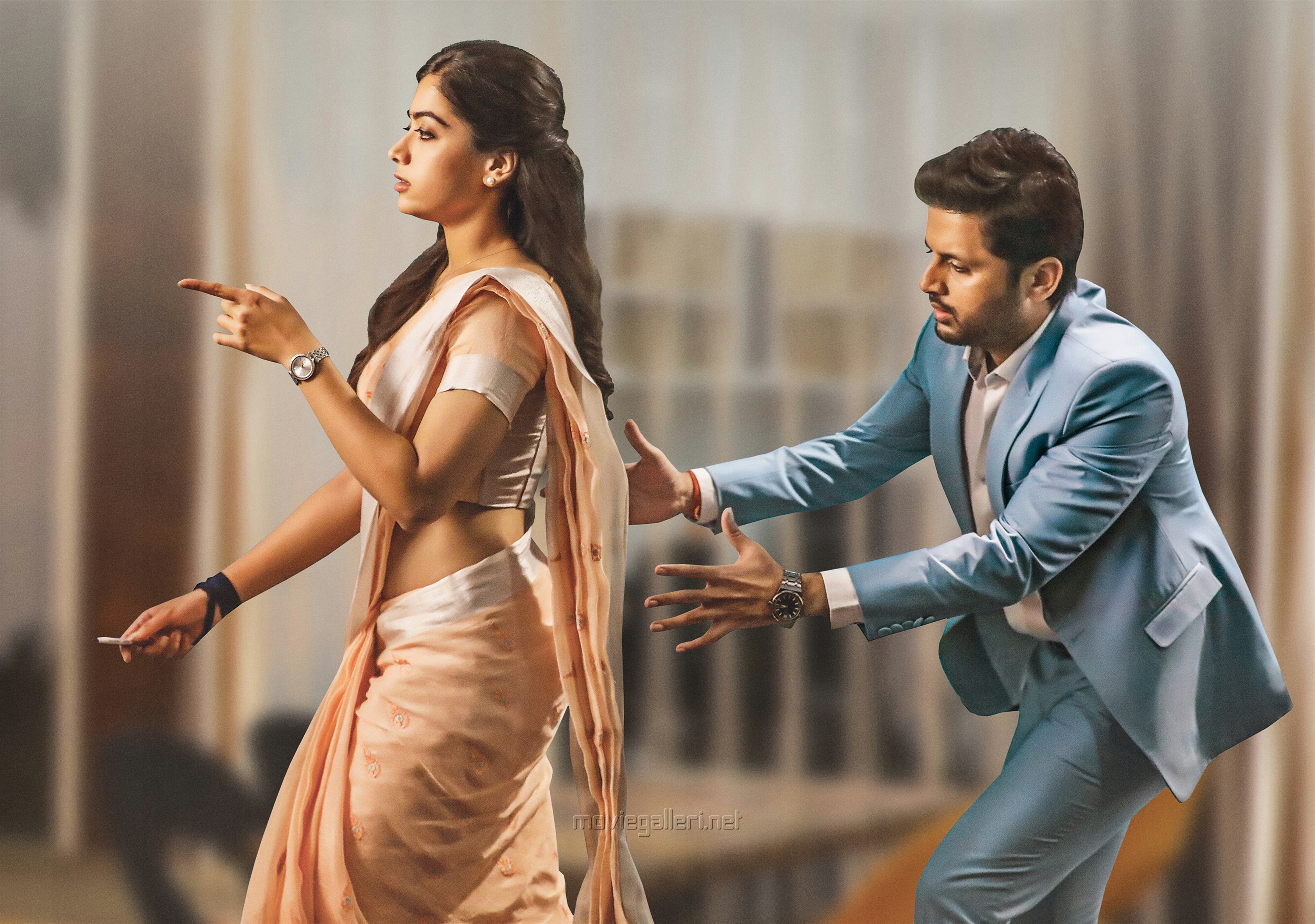 Rashmika Mandanna, Nithin in Bheeshma Movie Stills HD