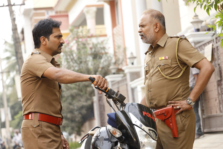 Vaibhav, Venkat Prabhu in Lock Up Movie Stills HD