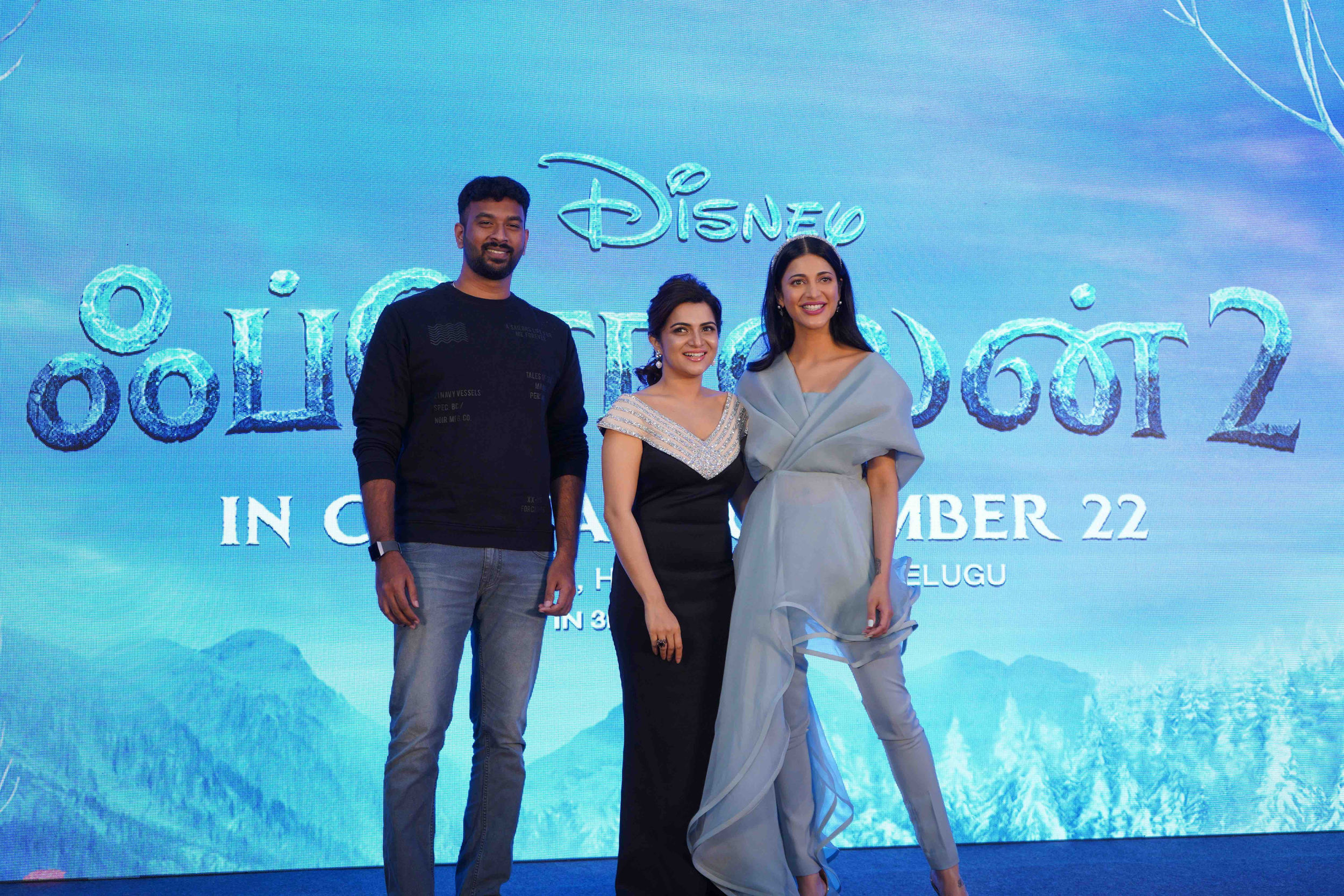 Vivek, Dhivyadarshini and Shruti Hassan @ Frozen 2 Tamil Press Meet