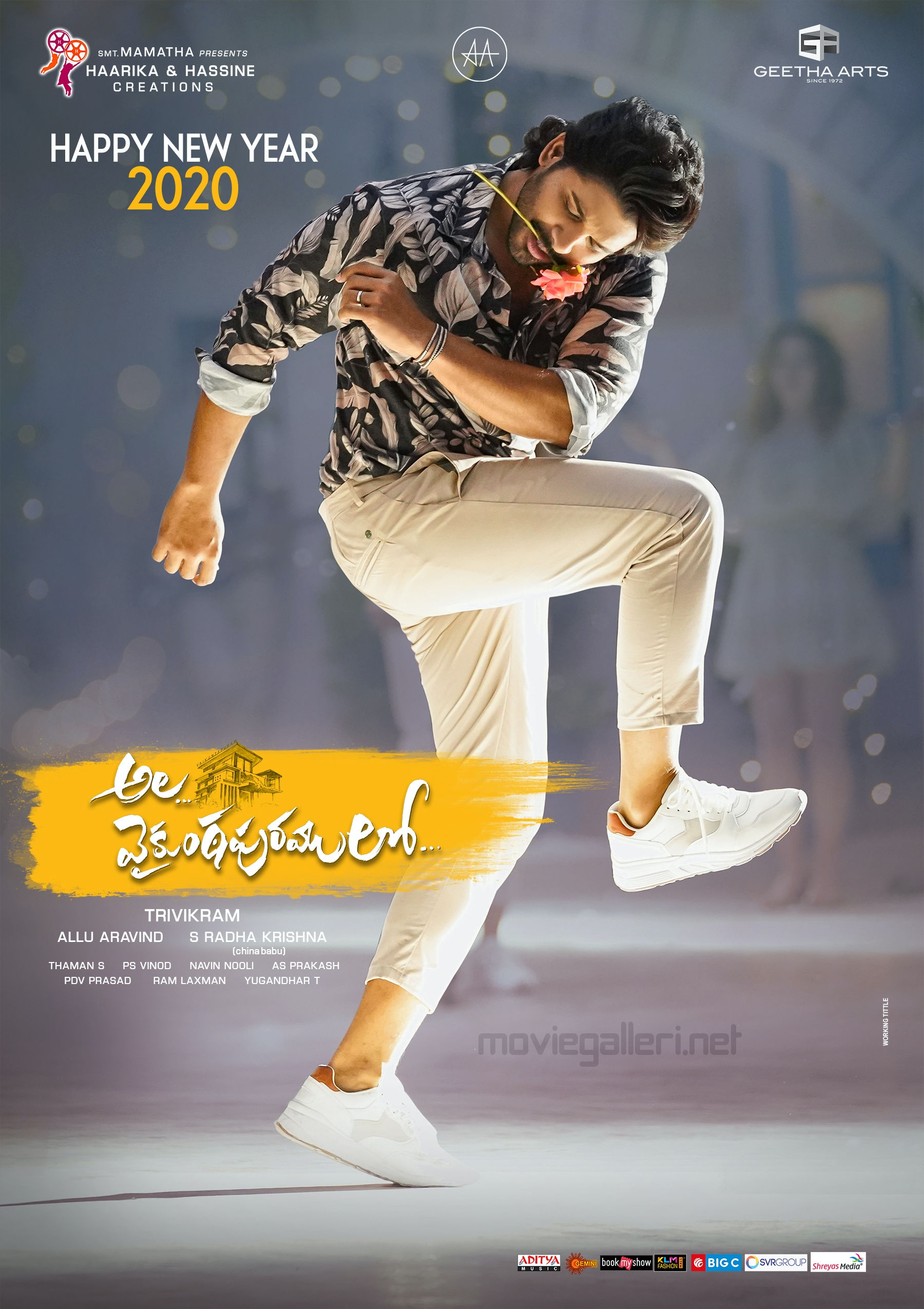 Allu Arjun Ala Vaikunta Puram Lo New Year 2020 Wishes Poster HD