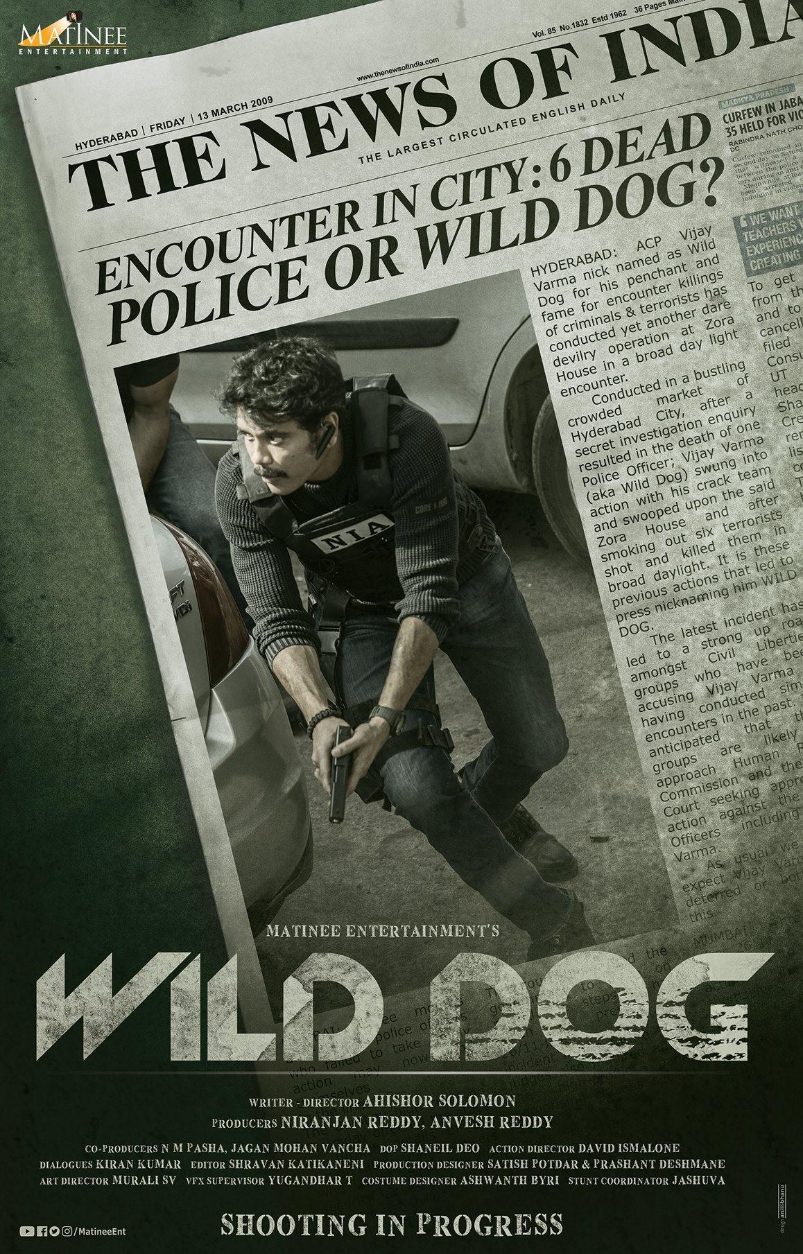 DARE DEVIL Encounter Specialist ACP Vijay Varma AKA Wild Dog Movie First Look Poster HD