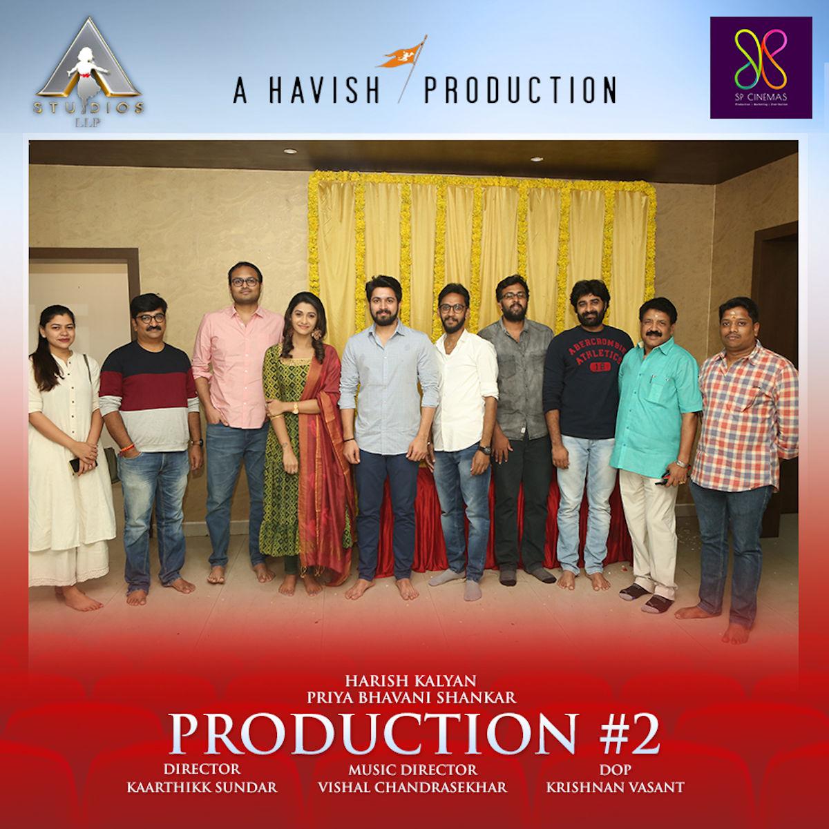"Harish Kalyan-Priya Bhavanishankar starrer ""Pelli Choopulu"" Tamil Remake Shooting takes off"
