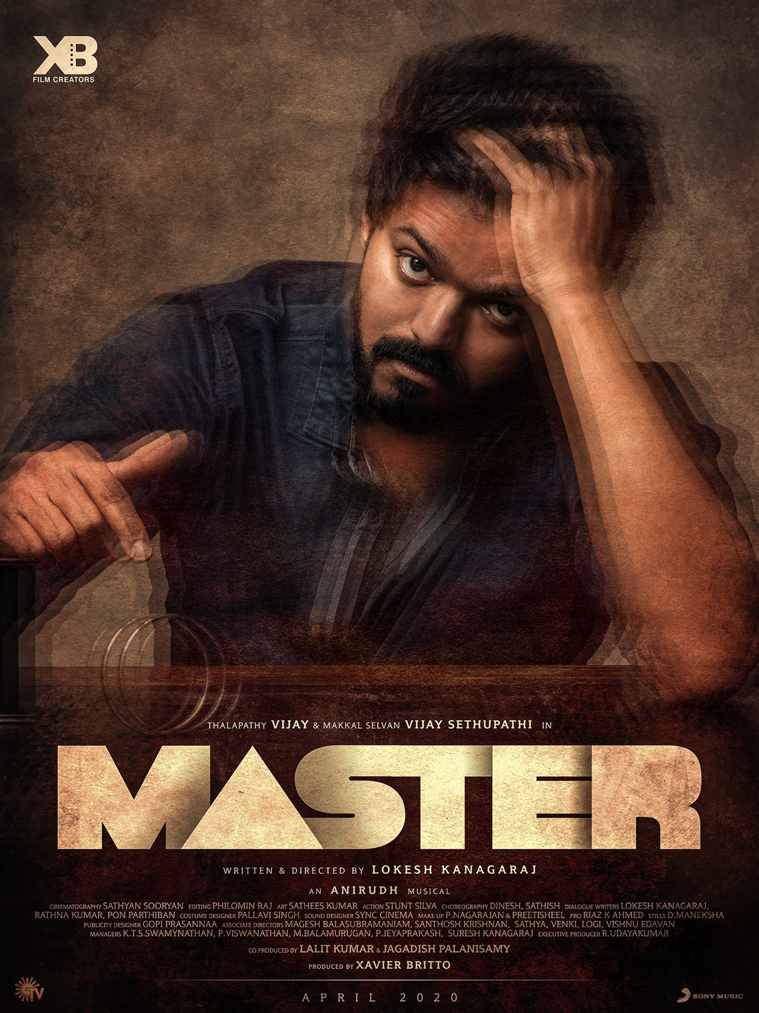 Vijay Master Movie First Look Poster HD