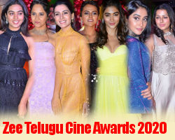 Actress @ Zee Telugu Cine Awards 2020 Red Carpet Stills