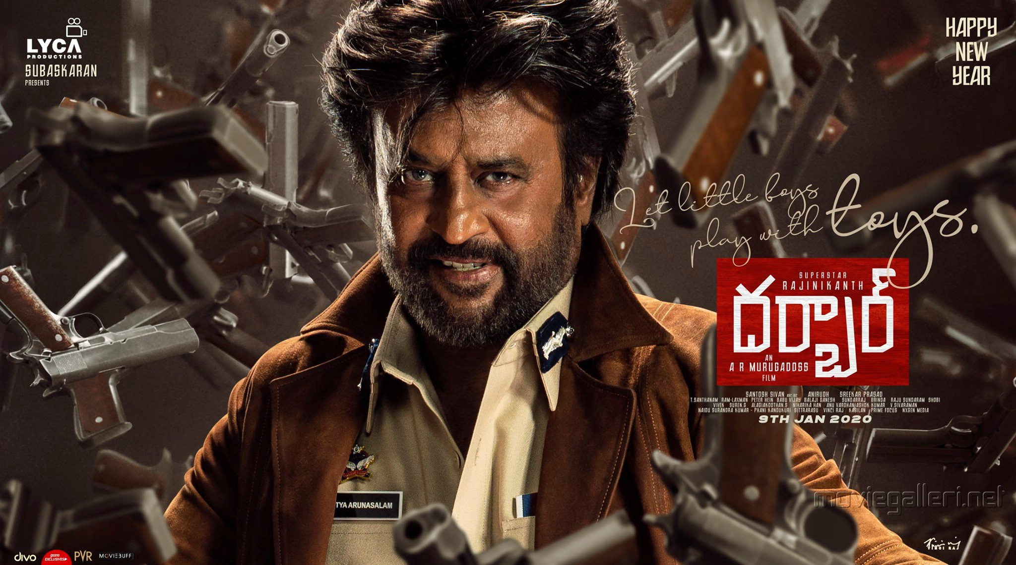 Rajinikanth Darbar Movie New Year 2020 Wishes Posters HD 17baf5d