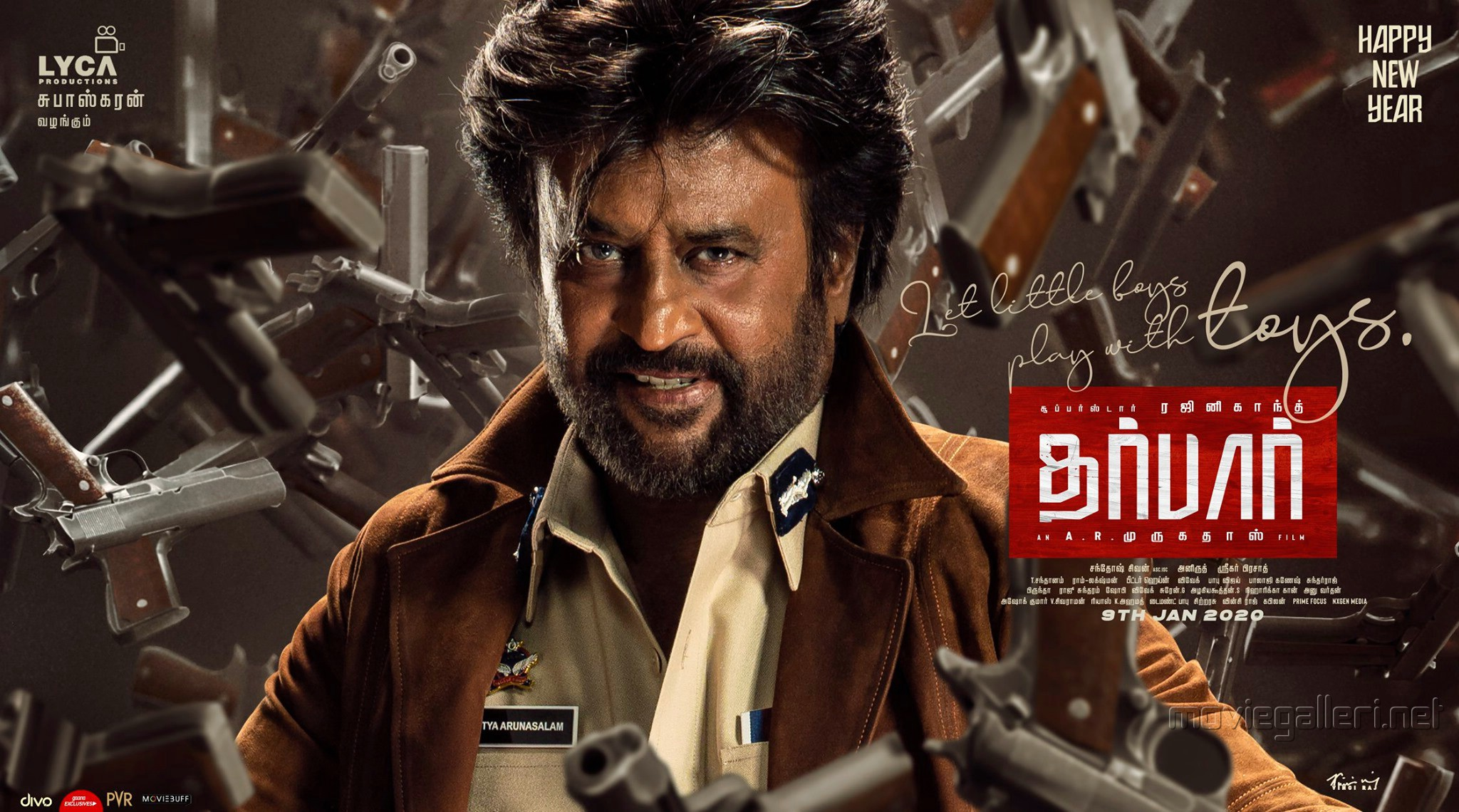 Rajinikanth Darbar Movie New Year 2020 Wishes Posters HD 2d564a2