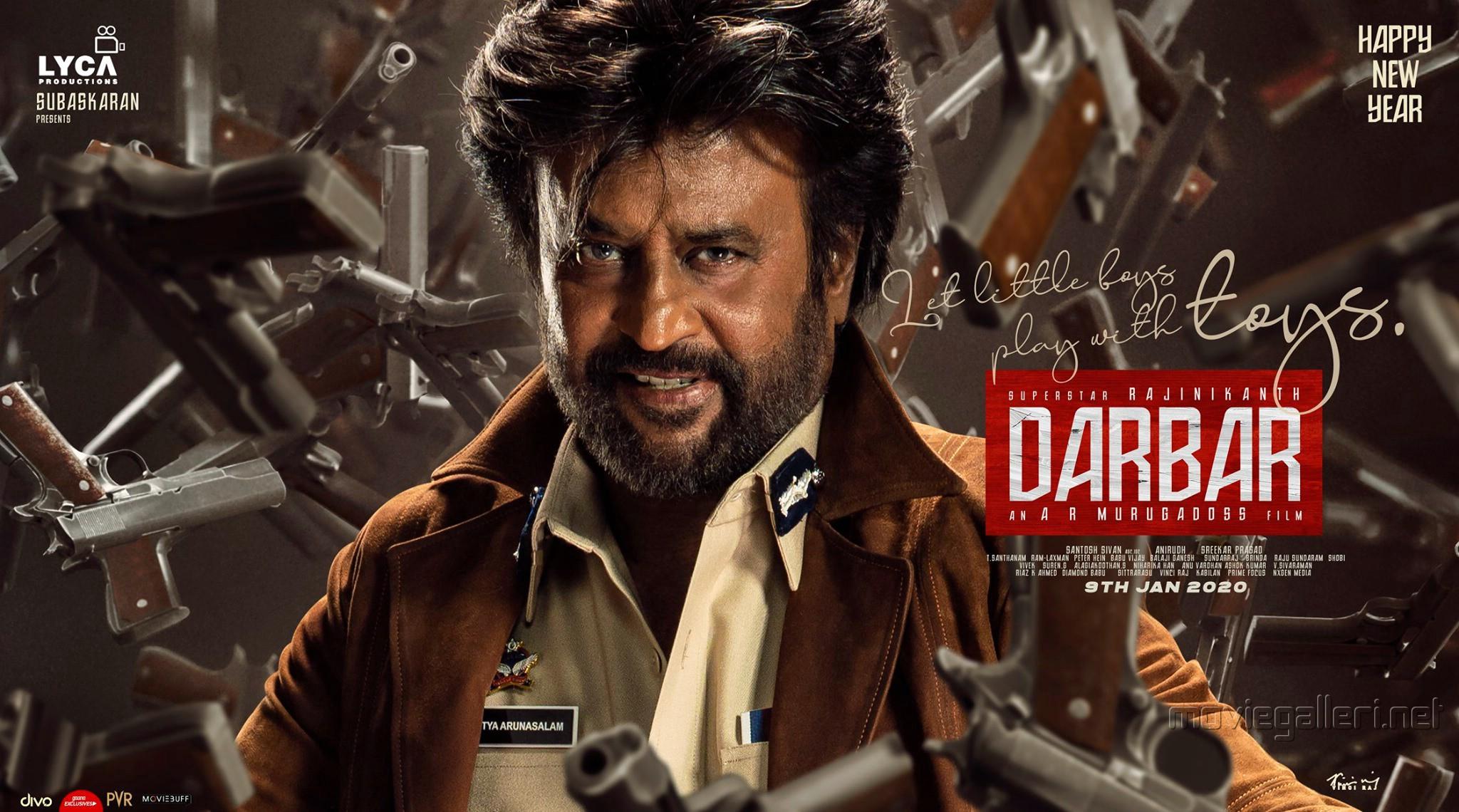 Rajinikanth Darbar Movie New Year 2020 Wishes Posters HD 311e1aa