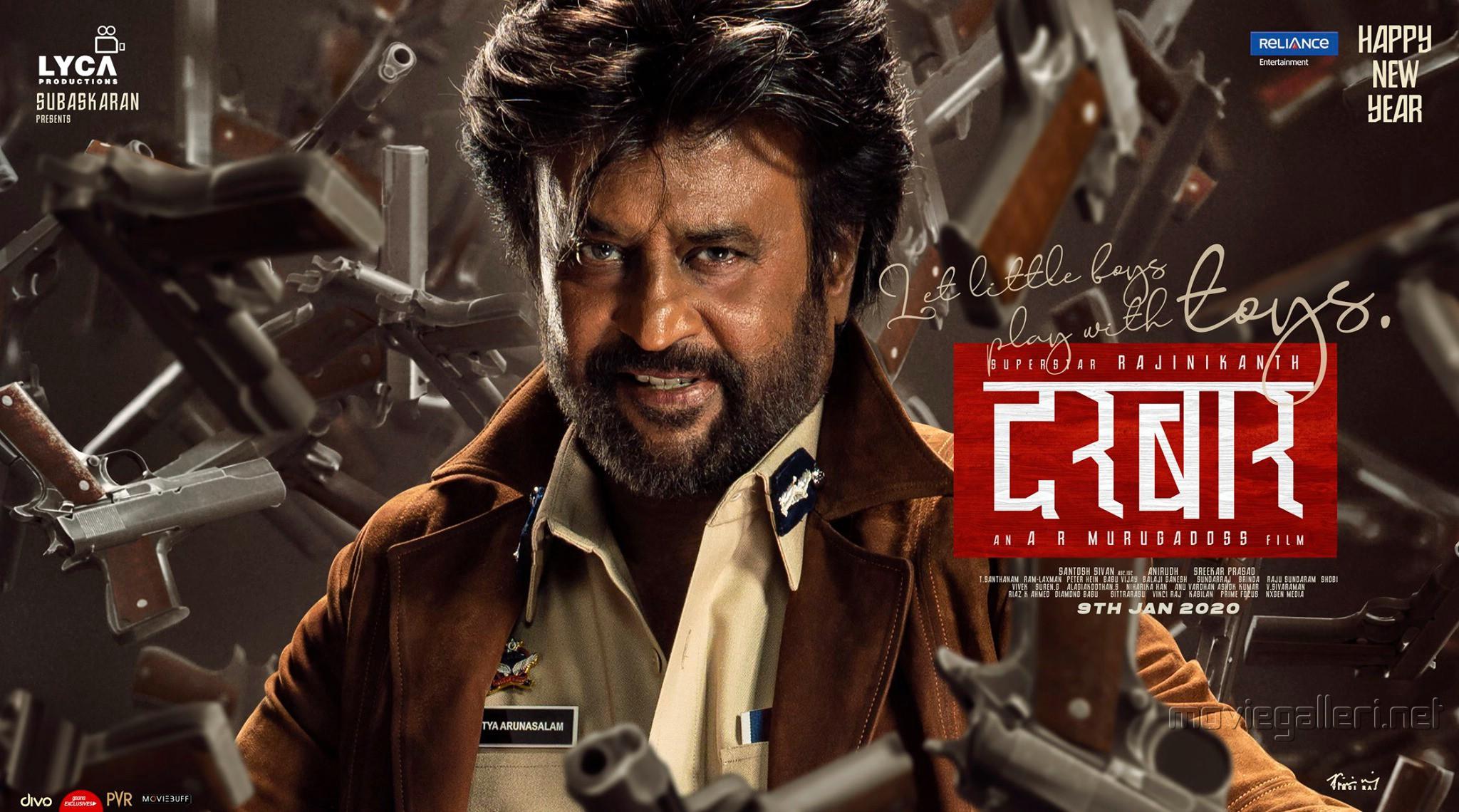 Rajinikanth Darbar Movie New Year 2020 Wishes Posters HD 900e6a5