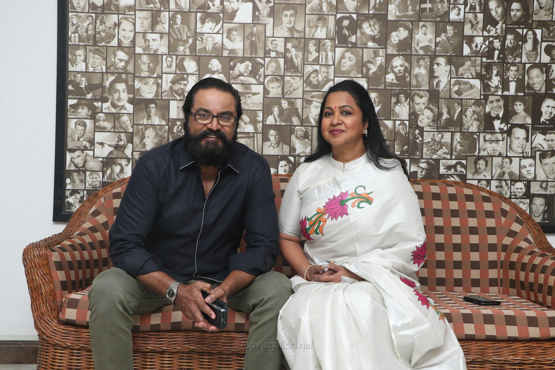 Sarathkumar, Raadhika @ Vaanam Kottattum Movie Press Meet Stills HD
