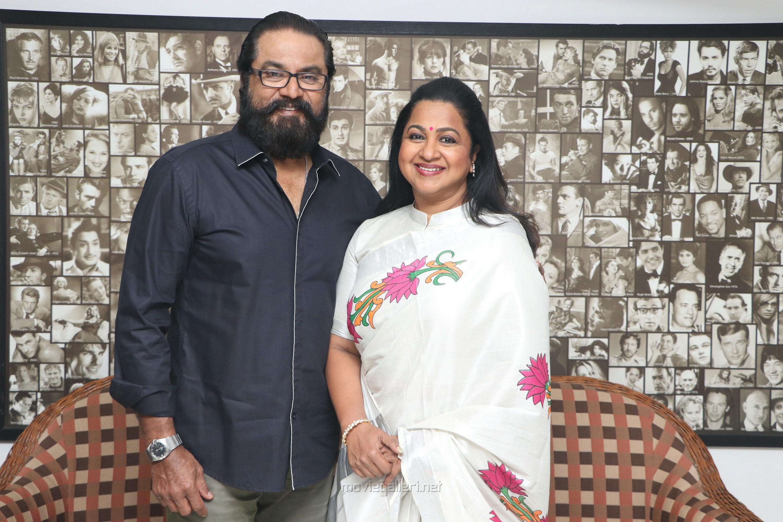 Sarathkumar, Radhika in Vaanam Kottattum Movie Press Meet Stills HD