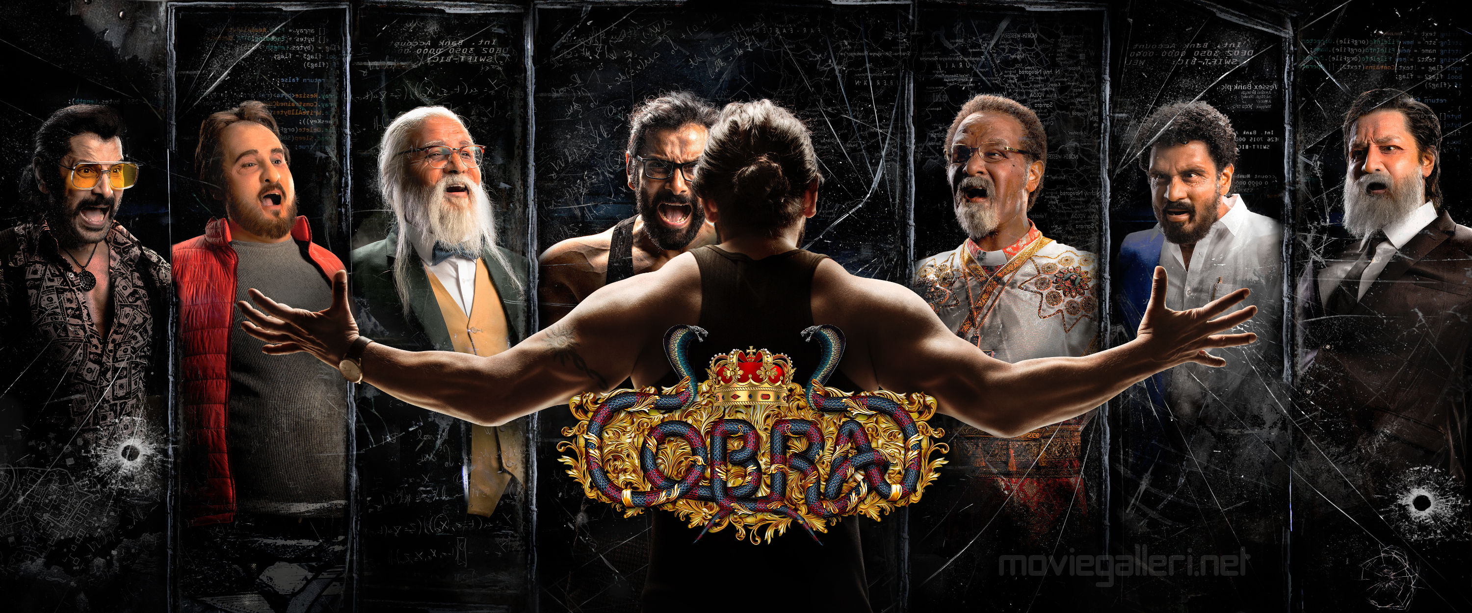 Actor Chiyaan Vikram Cobra Movie First Look Poster HD