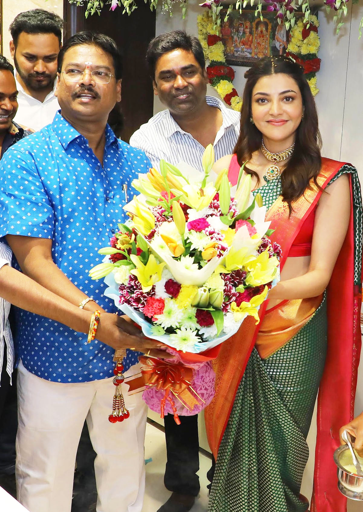Actress Kajal Aggarwal launches Maangalya Shopping Mall in Hyderabad at Chintal