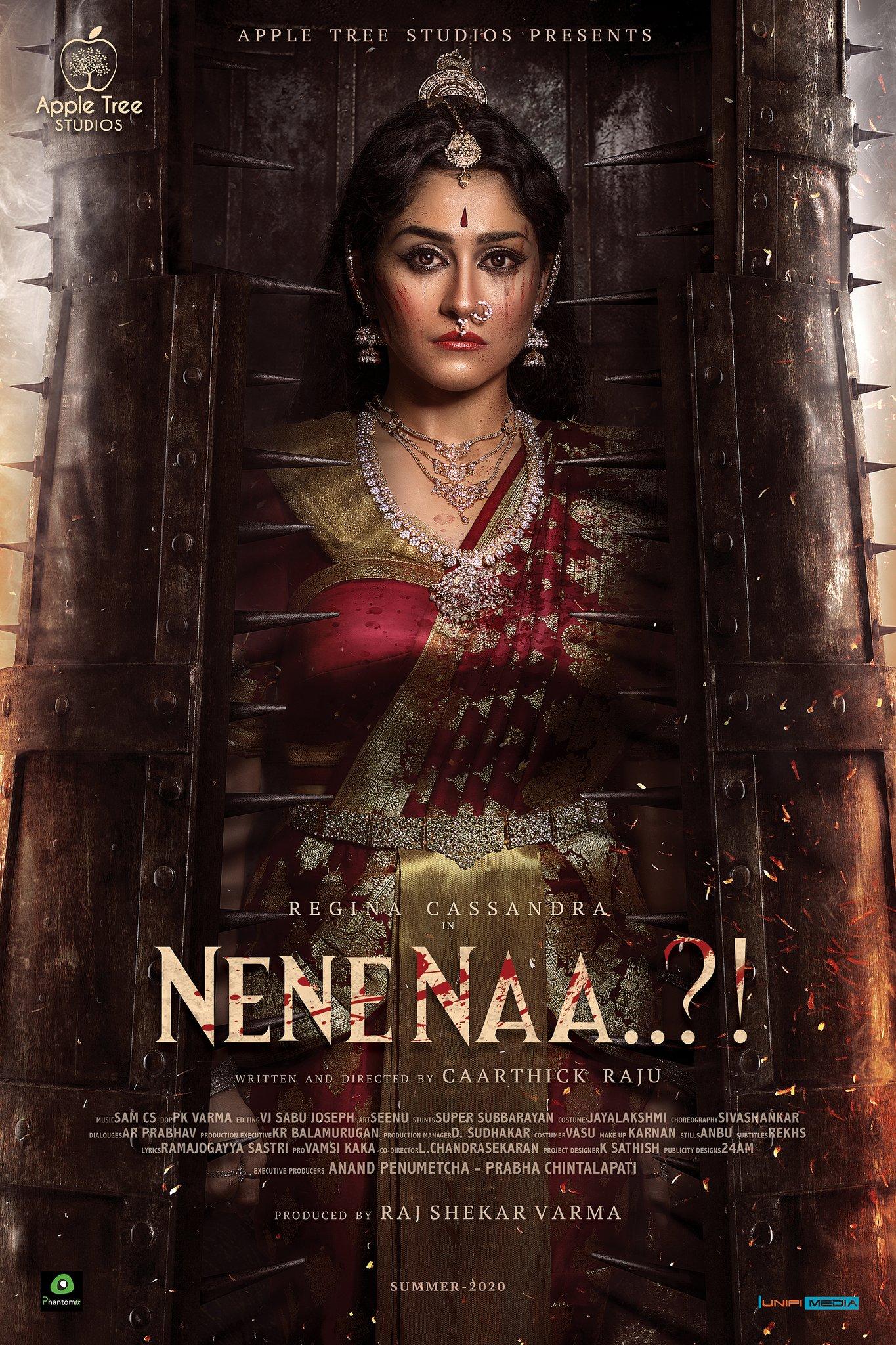 Actress Regina Cassandra Nene Naa Movie First Look Poster HD