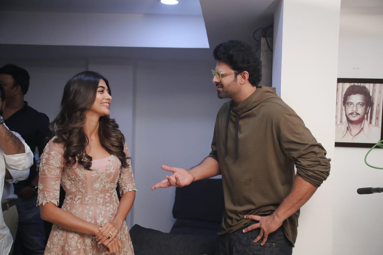 Actress Pooja Hegde @ Prabhas Movie Launch Stills