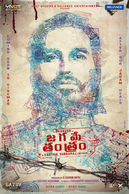 Dhanush Jagame Tantram Movie New Poster HD