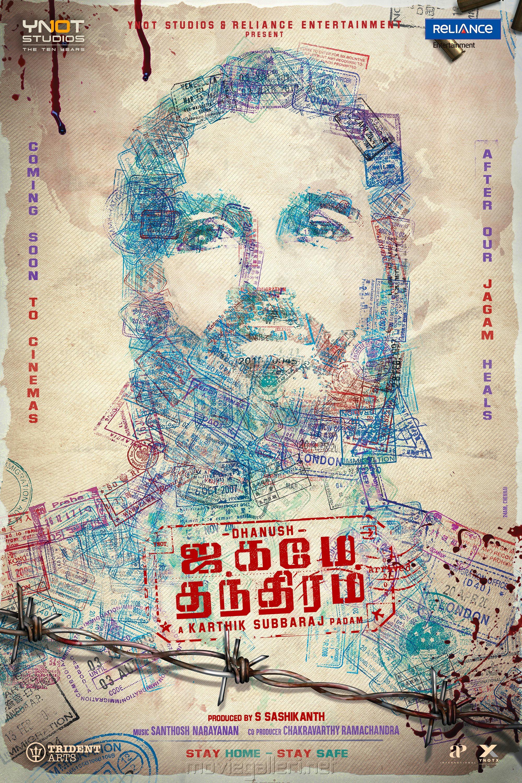 Dhanush Jagame Thanthiram Movie New Poster HD