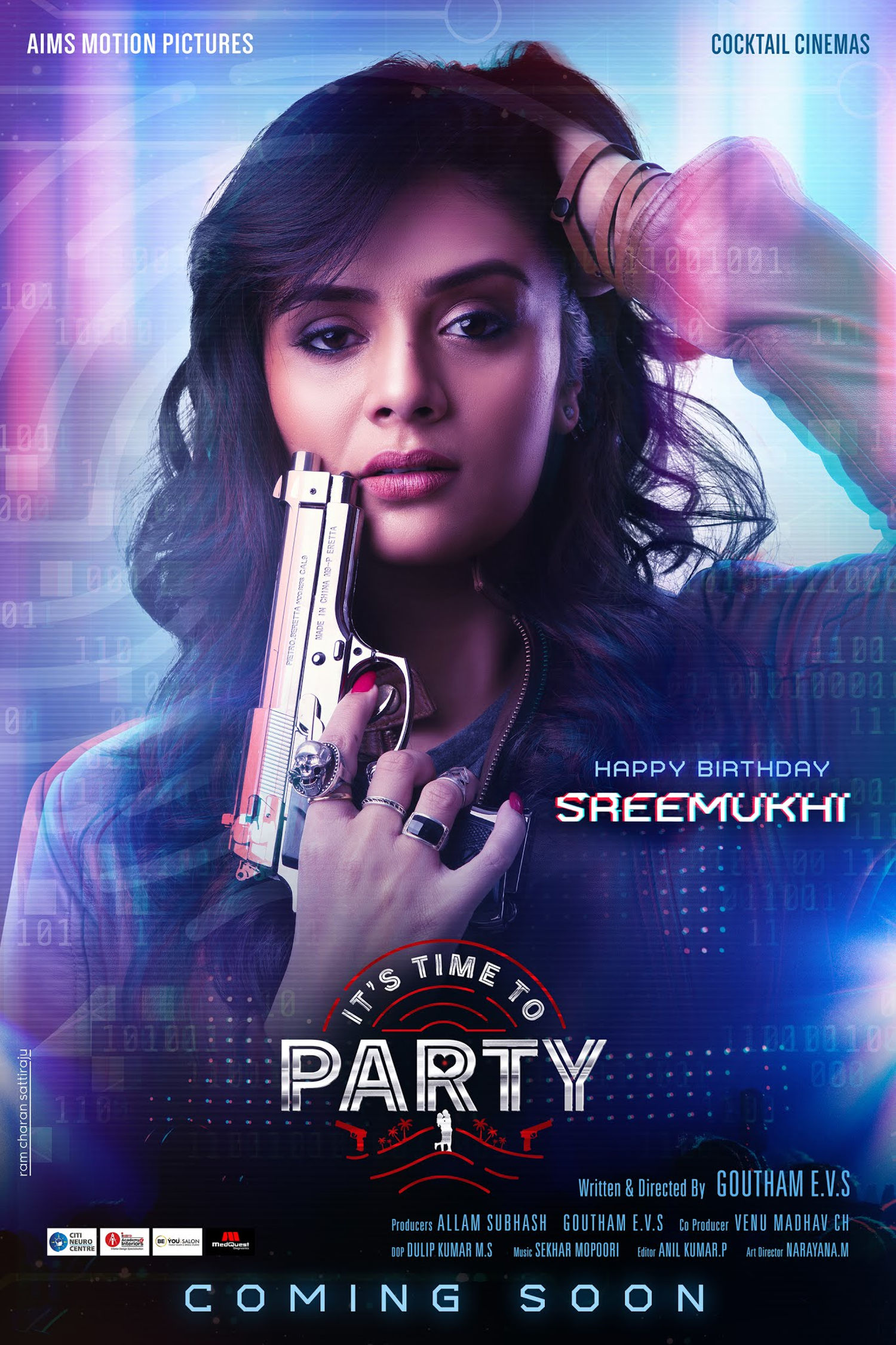 Its Time to Party Movie Heroine Sreemukhi Birthday Poster