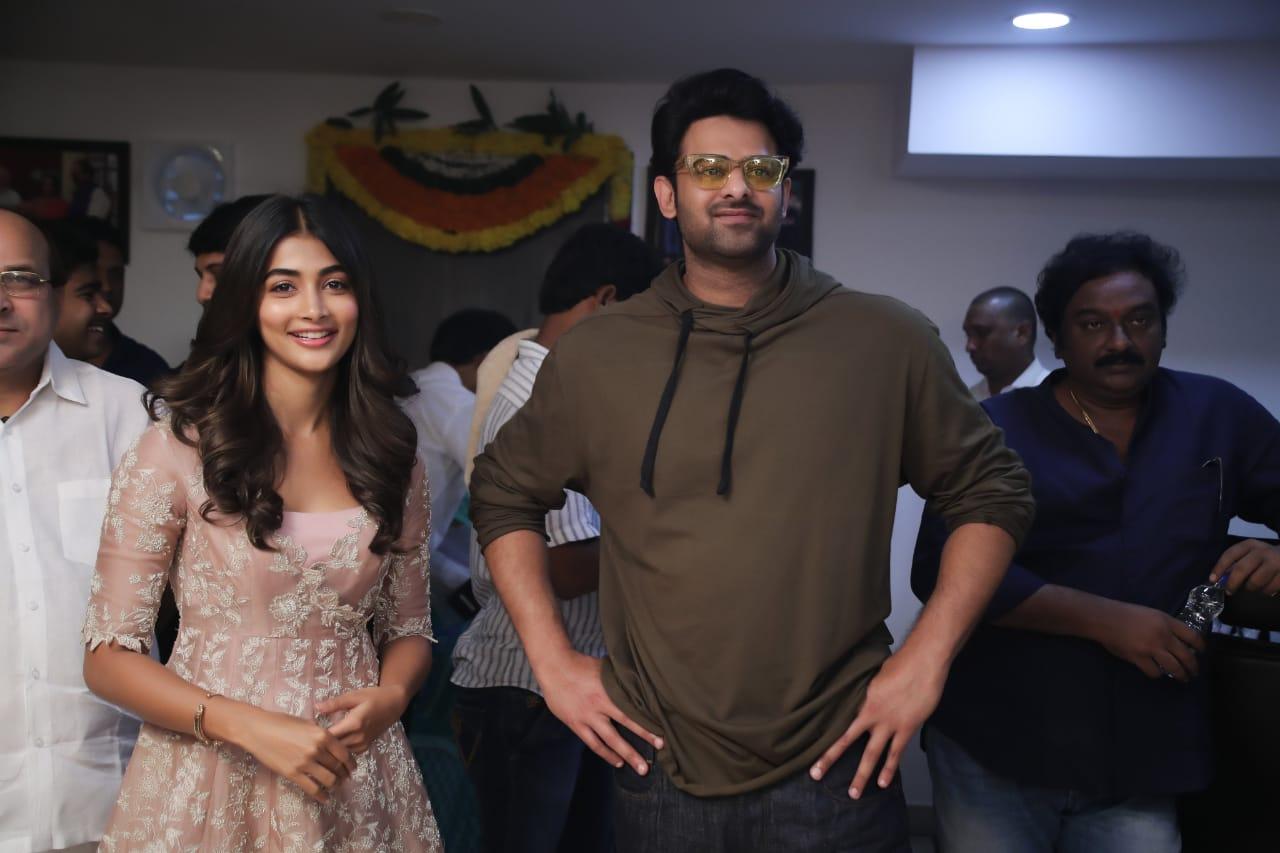 Pooja Hegde Prabhas Movie Launch Stills