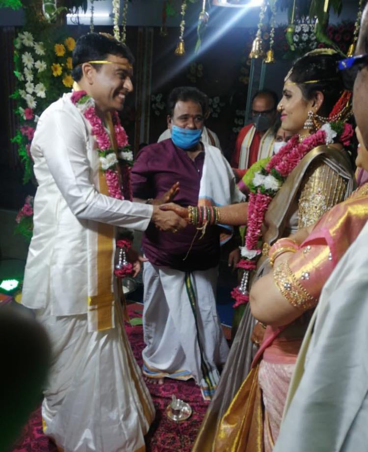 Producer Dil Raju Tejaswini Vygha Reddy Second Wedding Photos