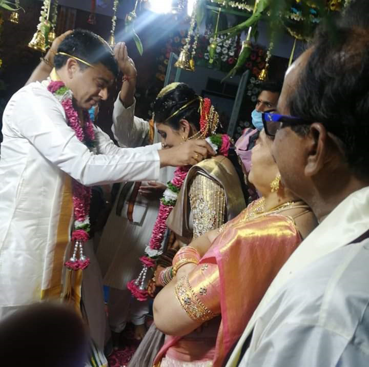 Telugu Film Producer Dil Raju Tejaswini Vygha Reddy Marriage Photos